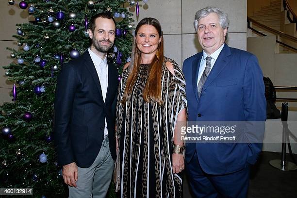 Paris National Opera dance director Benjamin Millepied President of committee 'Reve d'enfants 2014' Karin RudnickiSchlumberger and Director of the...