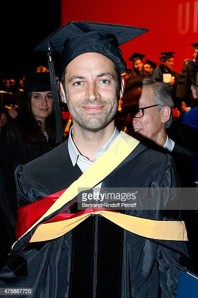Paris National Opera dance director Benjamin Millepied receives an Honorary Price during the Commencement Exercises of The American University of...