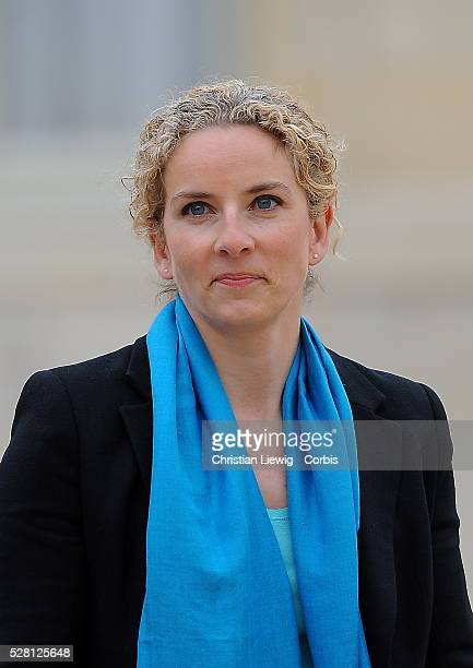 Newly appointed French Junior Minister for Justice Delphine Batho leaves after the first cabinet meeting of the French government on May 17 2012 at...