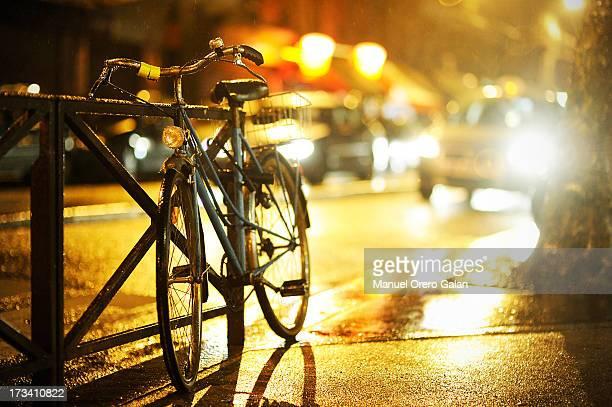 Paris night bike