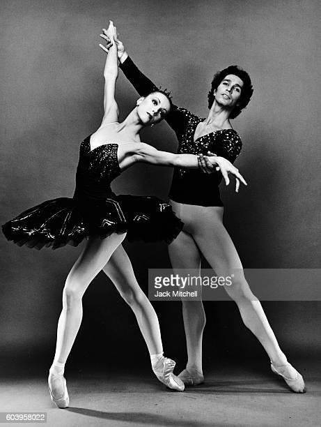 Paris Opera Ballet dancers Sylvie Guillem and Jean Yves Lormeau in Le Ballet de Cristal 1986