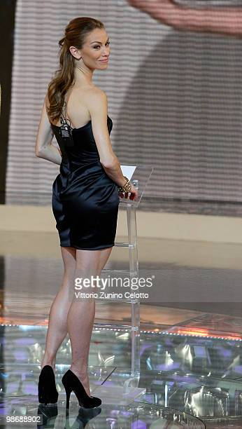 Paris Opera Etoile Eleonora Abbagnato attends 'L'Isola Dei Famosi' Italian Tv Show held at Rai Studios on April 26 2010 in Milan Italy