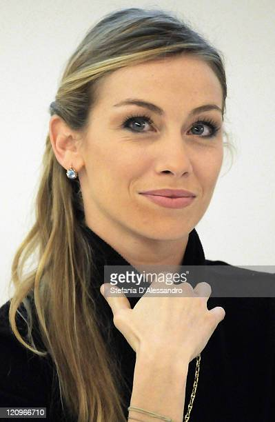 Paris Opera star ballerina Eleonora Abbagnato attends the press conference for the launch or her book 'Un Angelo Sulle Punte' at Mondadori...