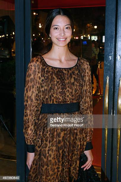 Paris Opera's dancer Hanna O'Neill attends the Fouquet's Paris Restaurant presents its Menu 'Twisted' by the Chef Pierre Gagnaire Held at Le...