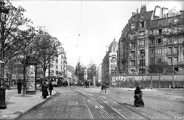 Paris Perspective of the Raspail boulevard and the crossroads of the Montparnasse boulevard about 1900