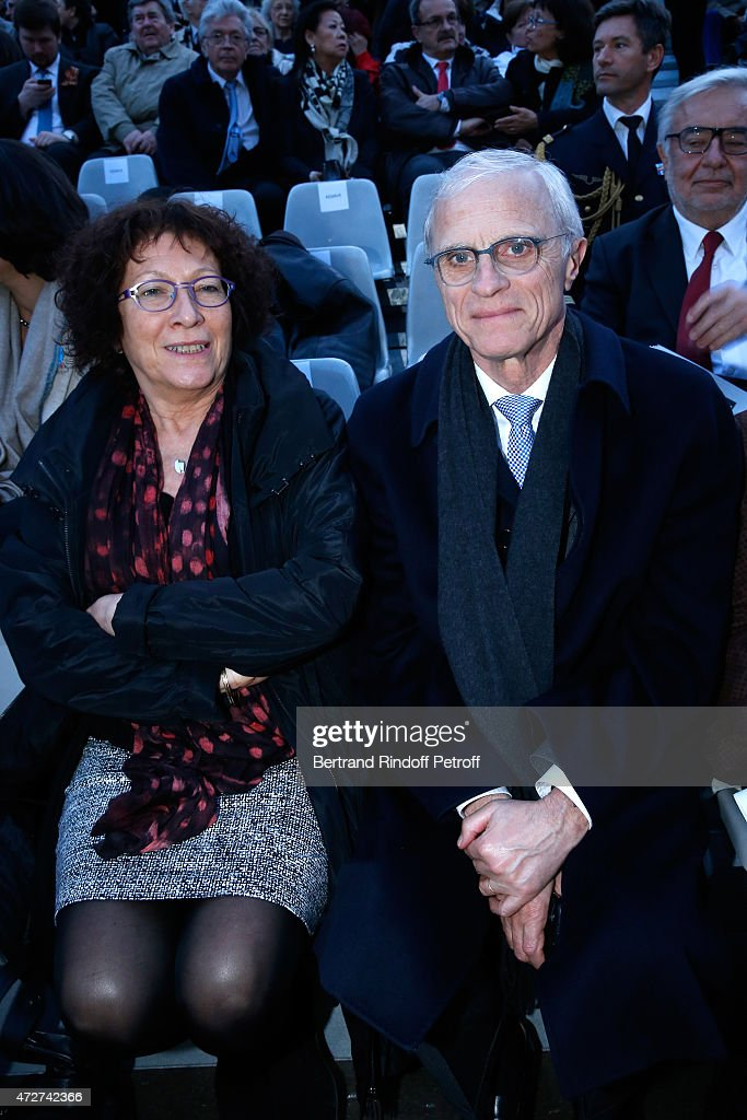 Paris Police Prefect <a gi-track='captionPersonalityLinkClicked' href=/galleries/search?phrase=Bernard+Boucault&family=editorial&specificpeople=7772884 ng-click='$event.stopPropagation()'>Bernard Boucault</a> and his wife Brigitte attend the 'Ami entends tu ?' Show performed at The Invalides on May 8, 2015 in Paris, France.