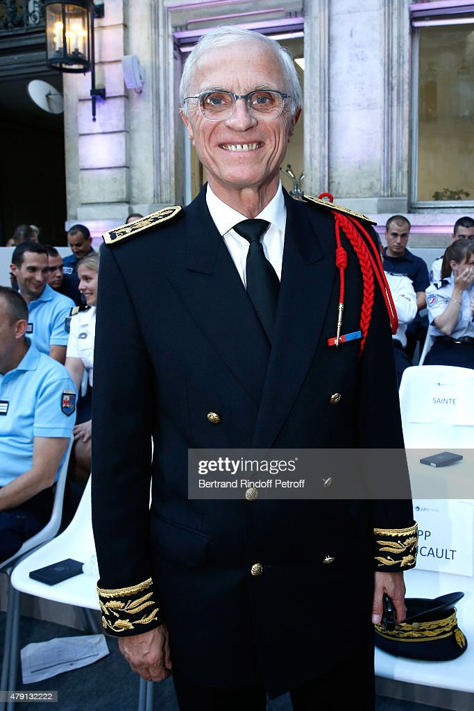 Paris Police Prefect <a gi-track='captionPersonalityLinkClicked' href=/galleries/search?phrase=Bernard+Boucault&family=editorial&specificpeople=7772884 ng-click='$event.stopPropagation()'>Bernard Boucault</a> attends the 'Une Nuit avec la Police et la Gendarmerie' : France 2 TV Show. Held at Ministere de l'Interieur in Paris on June 30, 2015 in Paris, France.