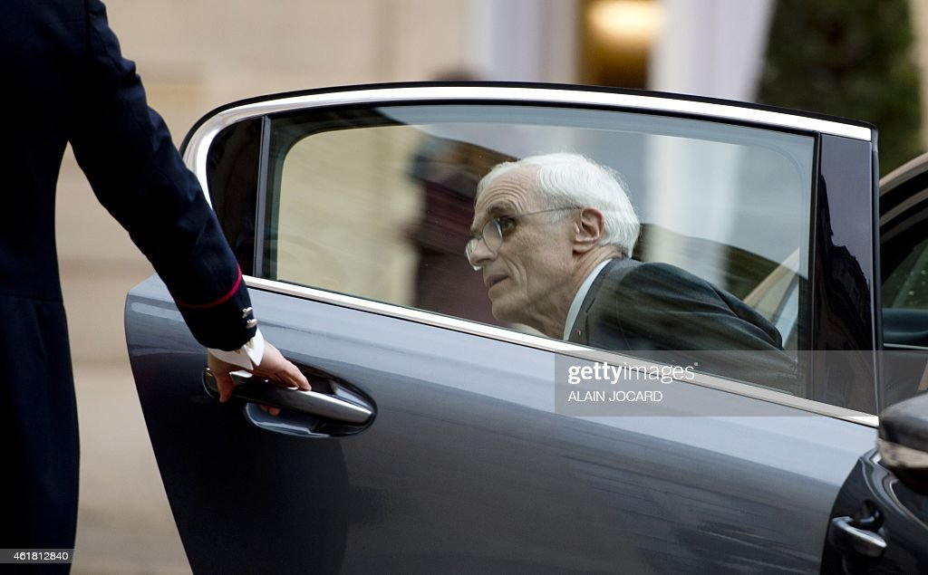 Paris Prefect <a gi-track='captionPersonalityLinkClicked' href=/galleries/search?phrase=Bernard+Boucault&family=editorial&specificpeople=7772884 ng-click='$event.stopPropagation()'>Bernard Boucault</a>, arrives to attend the New Year speech given by the French President to the government bodies at the Elysee Palace in Paris, on January 20, 2015.
