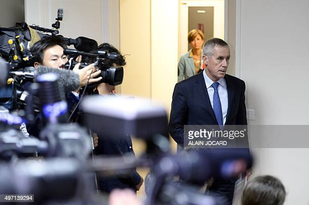 Paris prosecutor Francois Molins arrives to deliver a statement on November 14 2015 in Paris a day after a series of coordinated attacks in and...