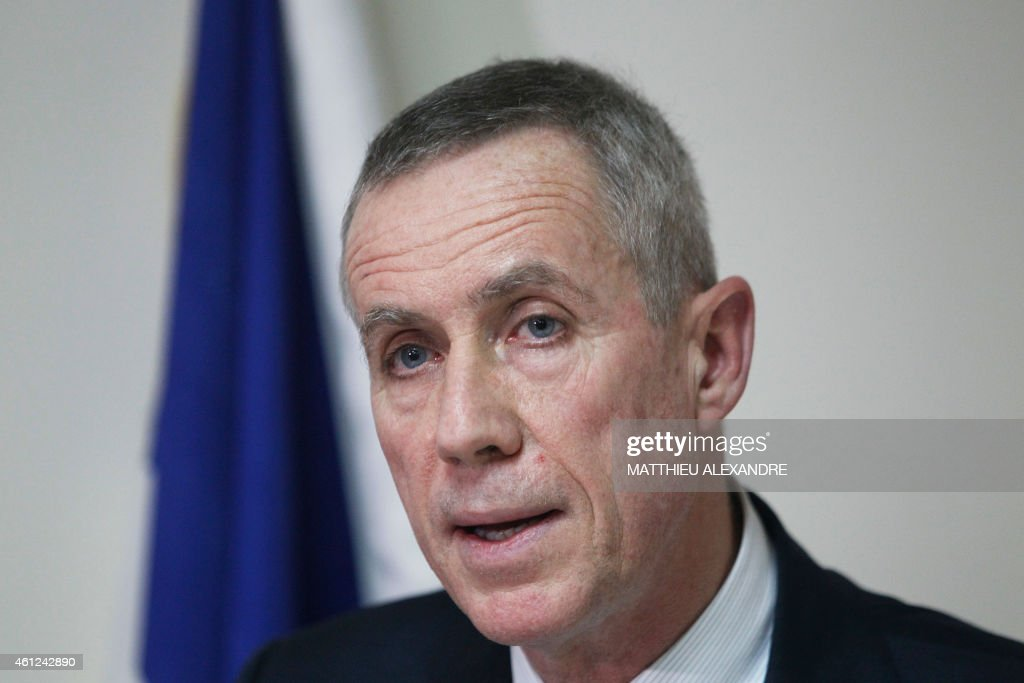 Paris prosecutor Francois Molins holds a press conference on January 9, 2015 in Paris after an hostage-taking at a Jewish supermarket where four hostages were killed in eastern Paris. French elite forces stormed two hostage sites on January 9, killing the brothers behind the Charlie Hebdo massacre and a jihadist accomplice in a fiery end that also claimed the lives of four hostages. The killings brought a dramatic close to three days of terror and high tension that began on January 7 when the two heavily armed Kouachi brothers burst into the satirical magazine's office and slaughtered some of France's best-loved cartoonists.