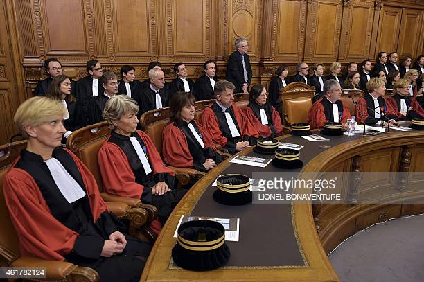 Paris' prosecutors are seen during the traditional ceremony of the 'Rentrée' of the Bar on January 19 2015 at the Palais de Justice in Paris AFP...
