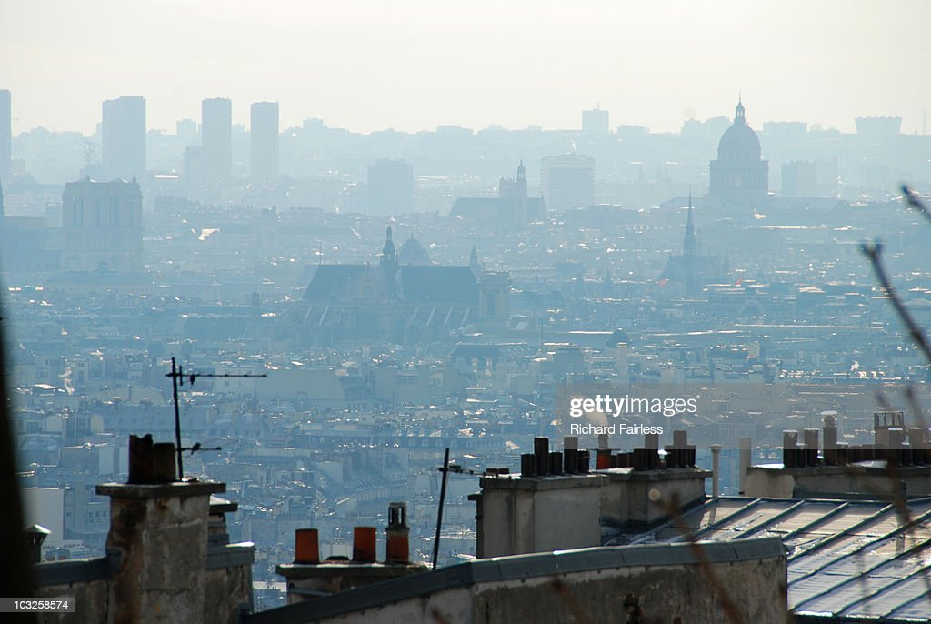 paris rooftops photo getty images. Black Bedroom Furniture Sets. Home Design Ideas