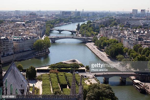 Paris rooftops, the river Seine