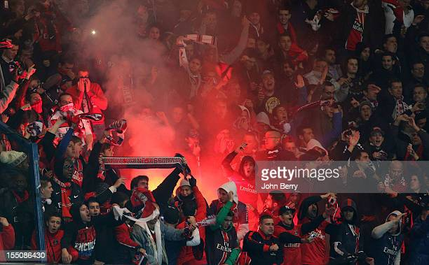 Paris Saint Germain supporters during the french eightfinals League Cup match between Paris Saint Germain PSG and Olympique de Marseille OM 20 at the...