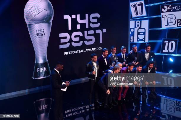 Paris SaintGermain and Brazil defender Dani Alves Real Madrid and Spain defender Sergio Ramos Real Madrid and Portugal forward Cristiano Ronaldo Real...