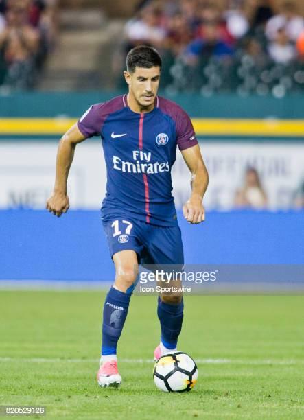 Paris SaintGermain defender Yuri controls the ball during an International Champions Cup match between AS Roma and Paris SaintGermain on July 19 2017...