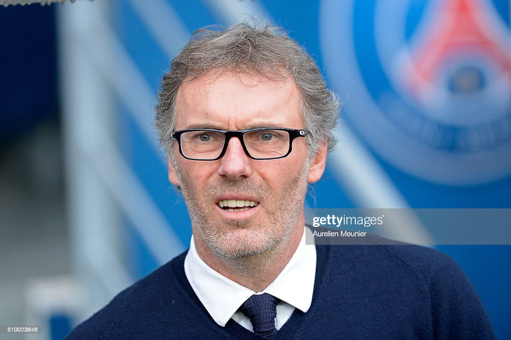Paris Saint-Germain Head Coach <a gi-track='captionPersonalityLinkClicked' href=/galleries/search?phrase=Laurent+Blanc&family=editorial&specificpeople=211209 ng-click='$event.stopPropagation()'>Laurent Blanc</a> reacts before the Ligue 1 game between Paris Saint-Germain and Lille OSC at Parc des Princes on February 13, 2016 in Paris, France.