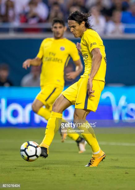 Paris SaintGermain midfielder Adrien Rabiot first goal of the game during the International Champions Cup match between Tottenham Hotspur and Paris...