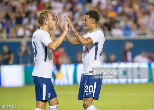 Paris SaintGermain midfielder Javier Pastore celebrates his PK during the International Champions Cup match between Tottenham Hotspur and Paris St...