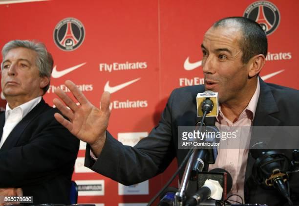 Paris SaintGermain new coach Paul Le Guen former Rangers boss gives a press conference 15 January 2007 at the Parc des Princes stadium in Paris close...