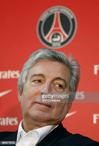 Paris SaintGermain president Alain Cayzac is pictured as he gives a press conference with PSG's new coach Paul Le Guen former Rangers boss 15 January...