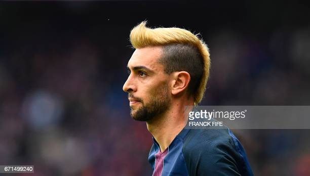 Paris SaintGermain's Argentinian forward Javier Pastore looks on during the French L1 football match between Paris SaintGermain vs Montpellier at the...