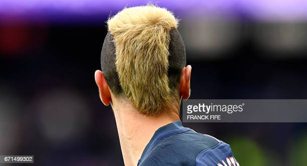 Paris SaintGermain's Argentinian forward Javier Pastore takes part in the French L1 football match between Paris SaintGermain vs Montpellier at the...