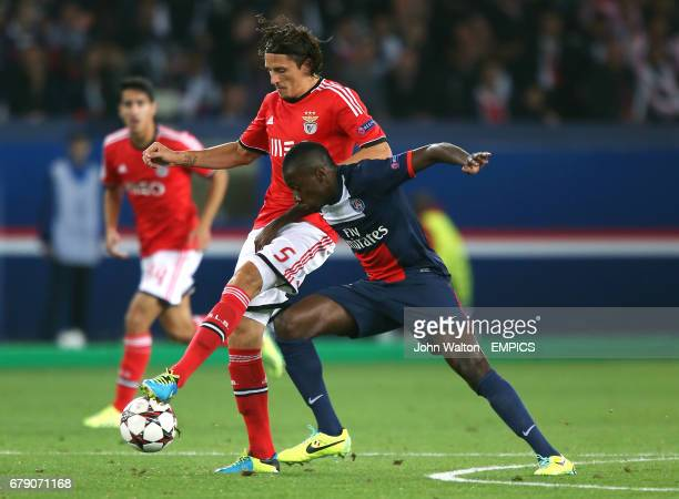 Paris SaintGermain's Blaise Matuidi and Benfica's Ljubomir Fejsa battle for the ball