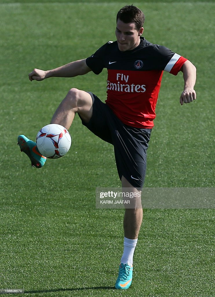 Paris Saint-Germain's (PSG) forward Kevin Gameiro attends a training session at the Aspire Academy of Sports Excellence in the Qatari capital Doha on December 30, 2012. PSG is in Qatar for a week-long training camp before the resumption of the French Ligue 1 after the winter break. AFP PHOTO / AL-WATAN DOHA / KARIM JAAFAR == QATAR OUT ==