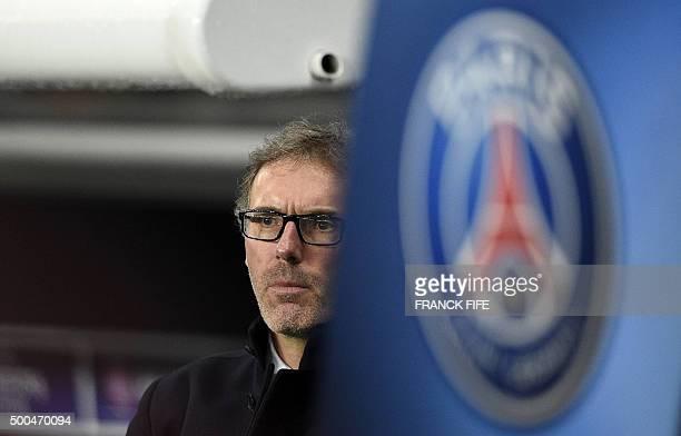 Paris SaintGermain's French coach Laurent Blanc attends the UEFA Champions League Group A football match between ParisSaintGermain and Shakhtar...