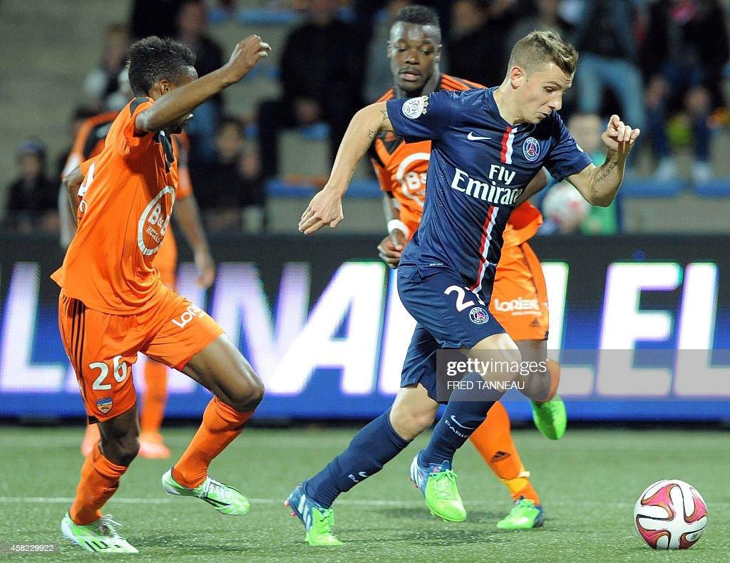 Paris french defender lucas digne r vies with lorientus for Lorient match