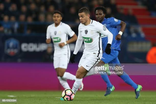 Paris SaintGermain's French forward Hatem Ben Arfa controls the ball during the French Cup football match between Avranches and Paris SaintGermain at...