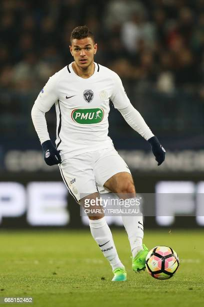 Paris SaintGermain's French forward Hatem Ben Arfa controls the ball during the French Cup football match between Avranches and Paris SaintGermain on...