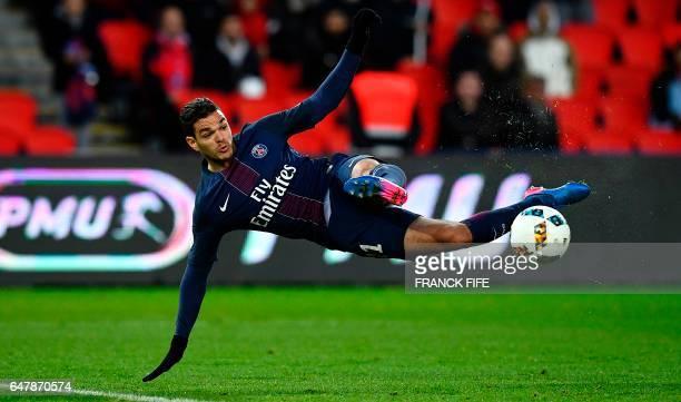 TOPSHOT Paris SaintGermain's French forward Hatem Ben Arfa kicks the ball during the French L1 football match between Paris SaintGermain and Nancy at...