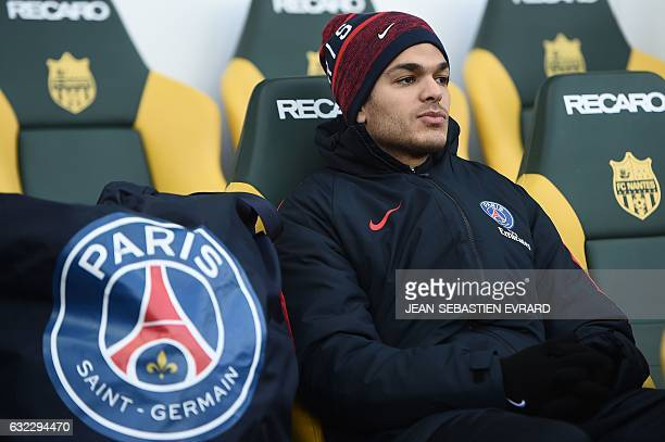 Paris SaintGermain's French forward Hatem Ben Arfa looks on during the French L1 football match between Nantes and Paris SaintGermain on January 21...
