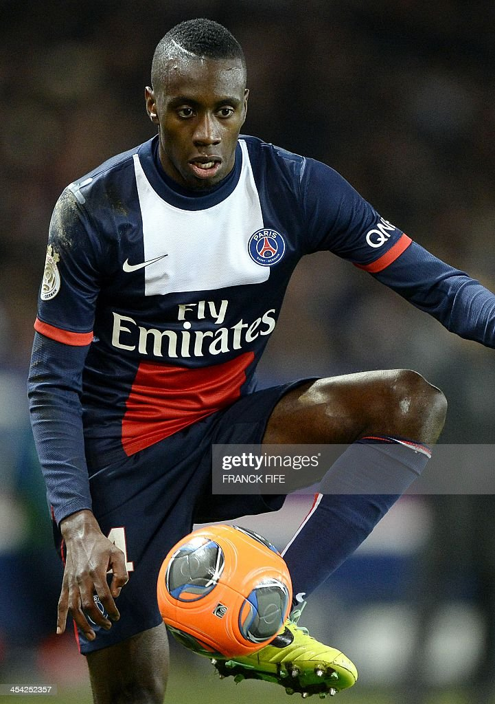 Paris Saint-Germain's French midfielder Blaise Matuidi controls the ball during the French L1 football match Paris Saint-Germain (PSG) vs Sochaux on December 7, 2013 at the Parc des Princes stadium in Paris. Paris won 5-0.