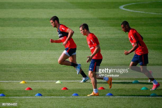 Paris SaintGermain's French midfielder Hatem Ben Arfa takes part in a training session at the Oredoo training Centre in SaintGermainenLaye on July 4...
