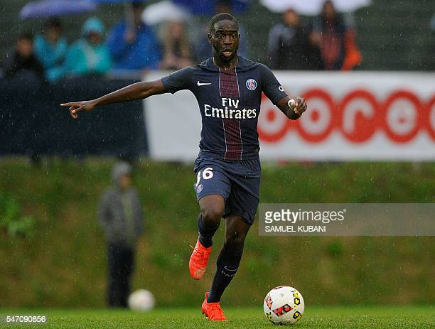 Paris SaintGermain's Jonathan Ikone controls the ball during the friendly match against West Bromwich Albion in Schladming on July 13 2016 / AFP /...