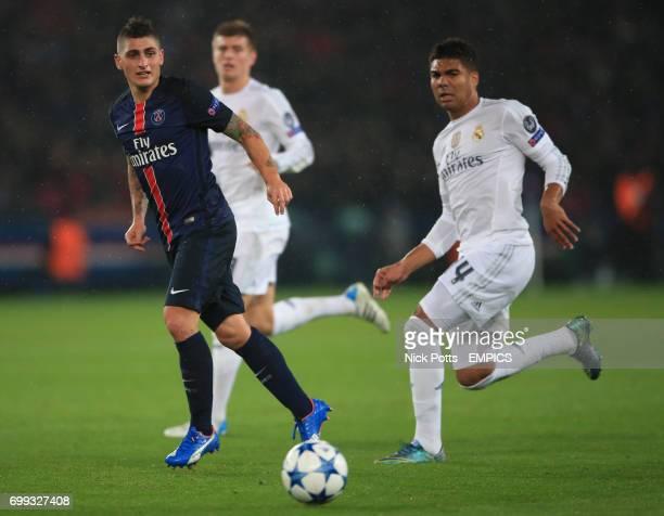 Paris SaintGermain's Marco Verratti and Real Madrid's Casemiro
