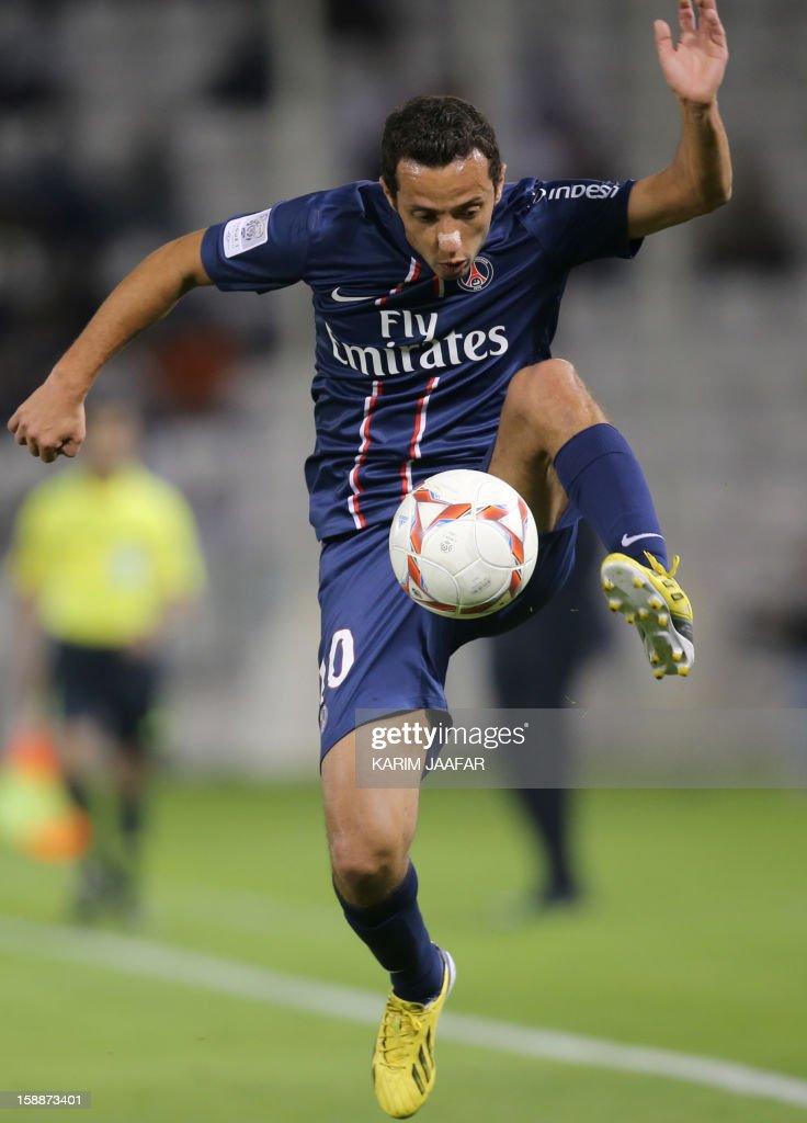 Paris Saint-Germain's (PSG) player Nene controls the ball during a friendly football match against Qatar's Lekhwiya in Doha on January 2, 2013. PSG won 5-1.