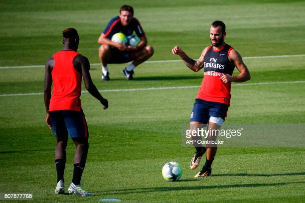 Paris SaintGermain's spanish forward Jese takes part in a training session at the Oredoo training Centre in SaintGermainenLaye on July 4 2017 / AFP...