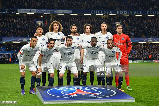 Paris SaintGermain's starting XI Brazilian defender Thiago Silva Brazilian defender David Luiz Italian midfielder Thiago Motta French midfielder...