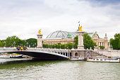 Paris, Seine river and Pont Alexandre III.