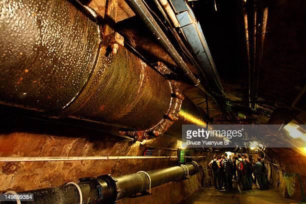 Paris sewer system in Musee des Egouts de Paris.