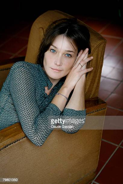 Singer Carla Bruni poses at a portrait session in Paris on November 16 2006