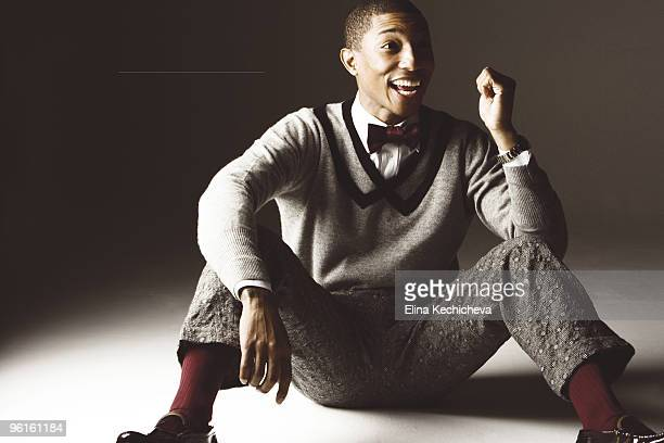 singer Pharell Williams poses at a portrait session for Jalouse in Paris on June 20 2008