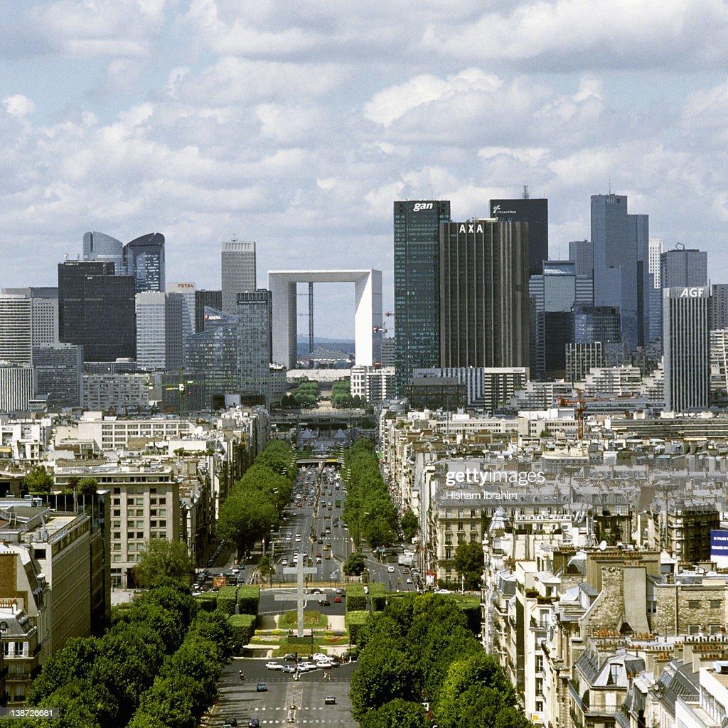 Paris Skyline and La Defense, Paris, France : Stock Photo