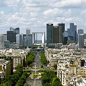 Paris Skyline and La Defense, Paris, France