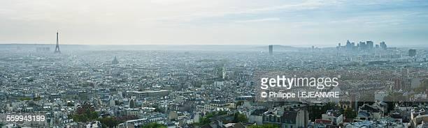 Paris skyline panorama