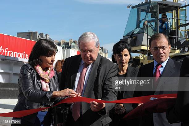 Paris' socialist deputy mayor Anne Hidalgo French IledeFrance region president JeanPaul Huchon Paris' 7th arrondissement mayor Rachida Dati from UMP...